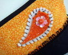 Porta - Moedas Paisley orange