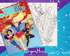Livro de Colorir Digital: DC Superhero Girls