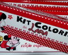 Kit de colorir Minnie c/ giz 12 cores
