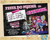 Convite festa do pijama Monster High