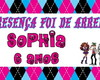 SQUEEZE PERSONALIZADO - MONSTER HIGH