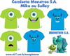 Camiseta Monstros Sa - Adulto