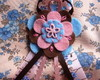 Broche Pink, Blue and Brown