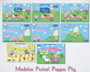 Backdrop Placa Painel Impresso Peppa Pig