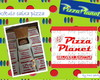 Rótulo Caixa de papel Pizza Planet
