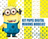 Kit papel digital Minions modelo2