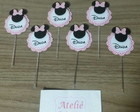 Toppers 3D Minnie Rosa