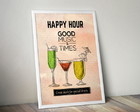 Poster Happy Hour 30X40