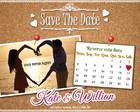 Save The Date 10x9cm frente e verso