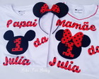 kit Camisetas papai e mamãe Mickey 002