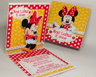 Convite Mini Pop Up - Minnie