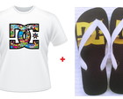 Kit Presente Dc Shoes Chinelo + Camiseta