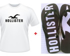 Kit Presente Hollister Chinelo Camiseta