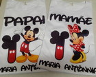 KIT CAMISETAS MINNIE E MICKEY
