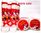 Kit Festa Minnie 30 Latinhas+30 Tubetes