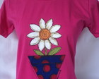 Camiseta babylook ,margarida