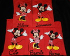 KIT c/5 Camisetas-Minnie e Mickey c/nome