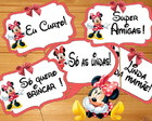 Plaquinhas Divertidas Minnie Vermelha