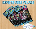 Revista de colorir Monster high