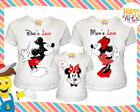 Kit Mickey Minnie Love