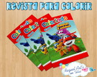 Revista de colorir Super Wings