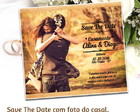 Save The Date Com Foto do Casal