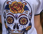 Camiseta Bordada Caveira Mexicana