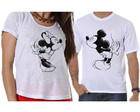 Camisetas Casal Minnie e Mickey Beijo