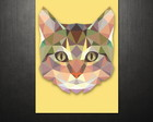 Poster Triangle Cat (40x60 cm)