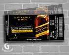 Convite ingresso -black label-Digital