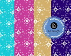 Kit Papel Digital Para Scrapbook-Frozen