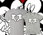 Camiseta Mickey e Minnie Romanticos