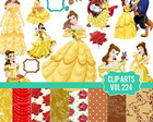 Cliparts Princesa Belle vol:224
