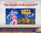 PAINEL FESTA 100X70 LAZY TOWN 2