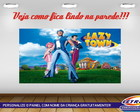 PAINEL FESTA 250X135 LAZY TOWN 4