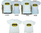 Kit familia toda camisetas Batman