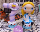 Mini Topo com Vela Alice in Wonderland