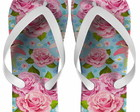Chinelo Estampa Floral Rosa