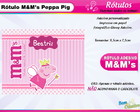 Rótulo M&M Peppa Pig