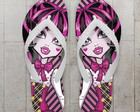 Chinelo Monster High Infantil Draculaura