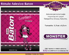Rótulo Baton Monster High