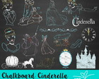 Kit Digital Chalkboard Cinderela