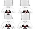 kit 6 camisetas batman x super man nome