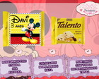 Rótulo mini Talento Mickey