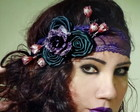 Headband Renda Roxa
