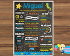 Chalkboard com moldura - Fundo do mar