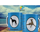 caneca pet cao greyhound