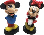 Mickey E Minnie Boneco Resina Disney