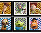 Kit 6 Quadros Toy Story Personagens