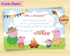 Convite Digital Peppa Pig Arraial